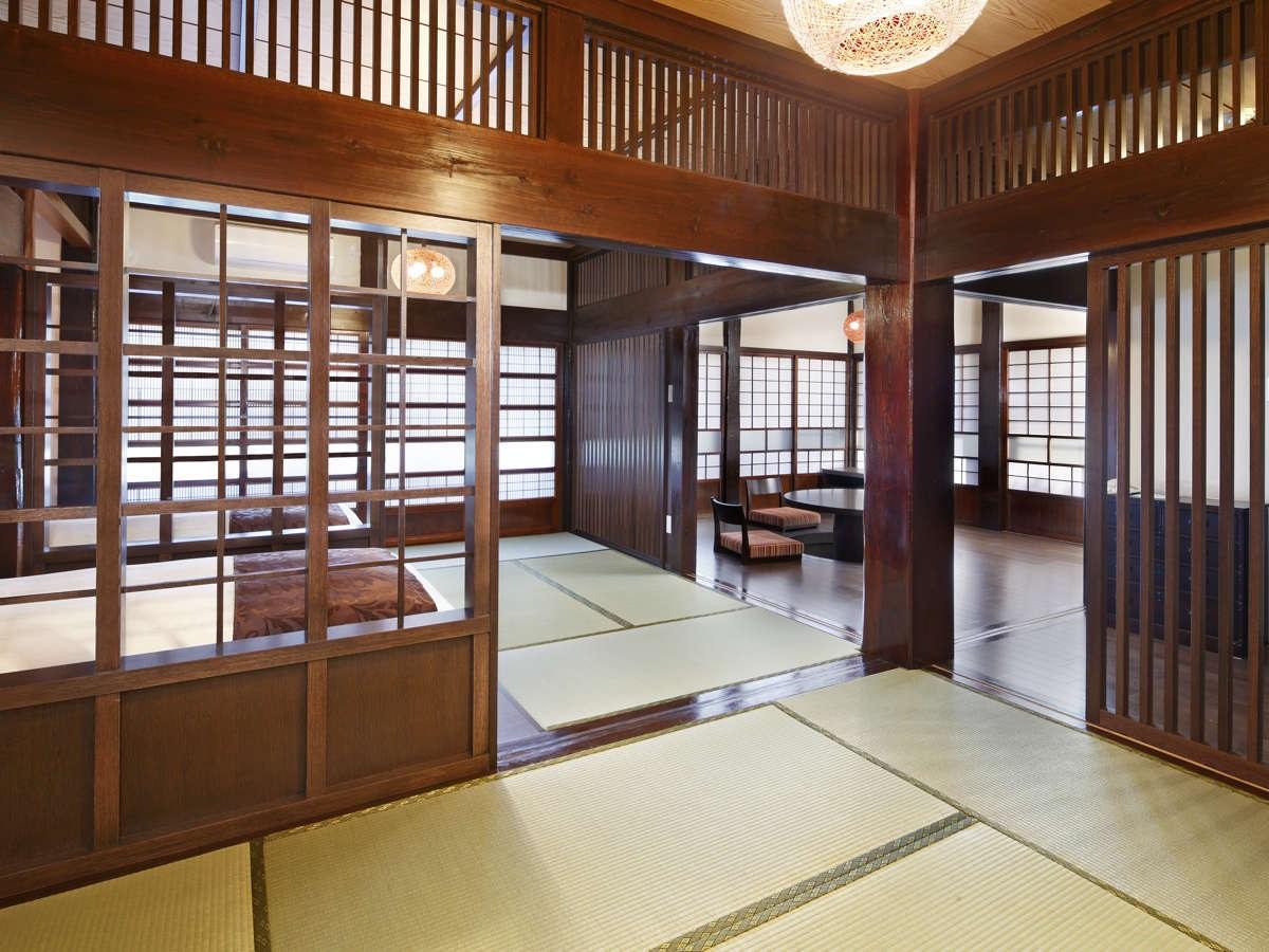 離れ・源泉足湯付客室-ふる里-広々とした客室